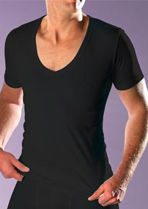 RJ Basic T-shirt diepe V-hals