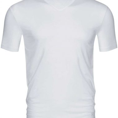 V-neck-shirt-Dry-cotton-46007-Wit