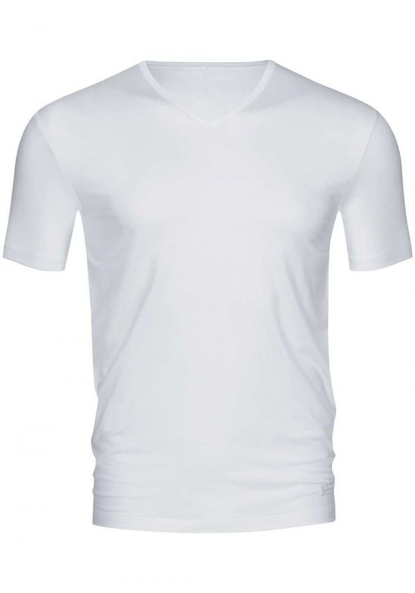V-neck-shirt-Dry-cotton-46007-Wit